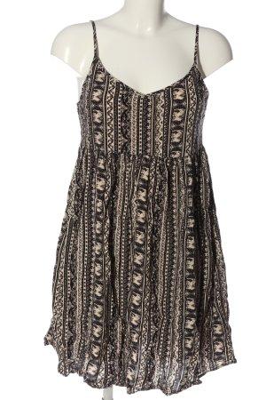 Clockhouse Minikleid braun-wollweiß grafisches Muster Elegant