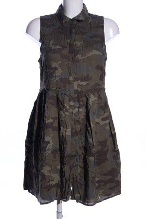 Clockhouse Mini-jurk khaki-bruin camouflageprint casual uitstraling