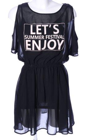 Clockhouse Mini-jurk zwart gedrukte letters casual uitstraling