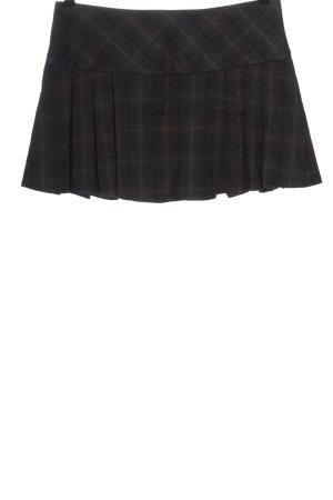 Clockhouse Minifalda negro-marrón estampado a cuadros look casual
