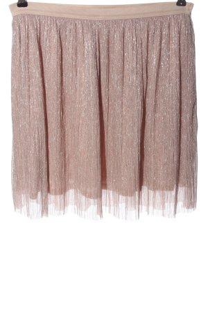 Clockhouse Minigonna rosa-argento con glitter