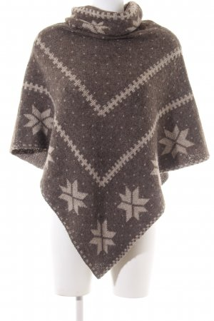 Clockhouse Poncho braun-wollweiß grafisches Muster Casual-Look