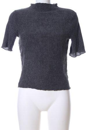 Clockhouse Geribd shirt lichtgrijs gestippeld casual uitstraling