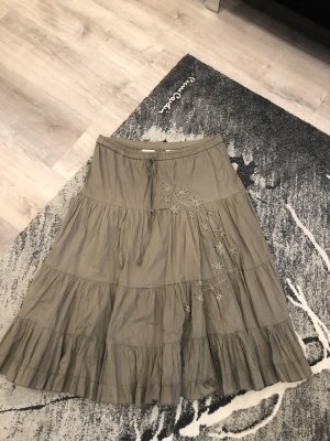 Clockhouse Plaid Skirt green grey