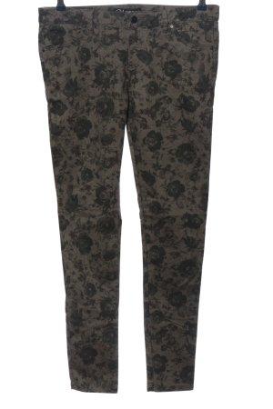 Clockhouse Pantalone a sigaretta grigio chiaro-nero stampa integrale