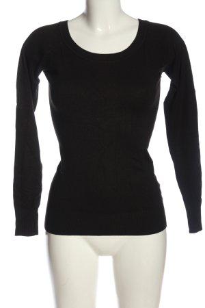 Clockhouse Sweter z okrągłym dekoltem czarny W stylu casual