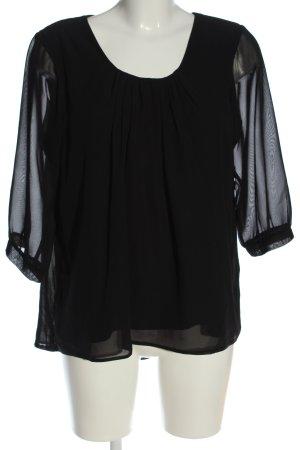 Clockhouse Blusa caída negro elegante