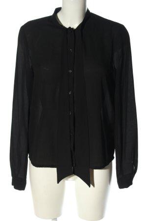 Clockhouse Blouse avec noeuds noir style d'affaires