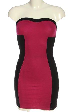 Clockhouse Off-The-Shoulder Dress pink-black elegant
