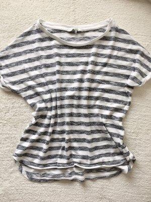 Clockhouse Shirt gestreift grau weiß Gr. S