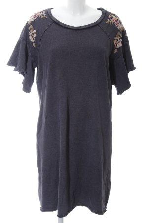 Clockhouse T-shirt jurk zwart bloemenprint casual uitstraling