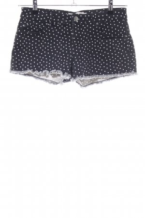 Clockhouse Shorts schwarz-weiß Punktemuster Casual-Look