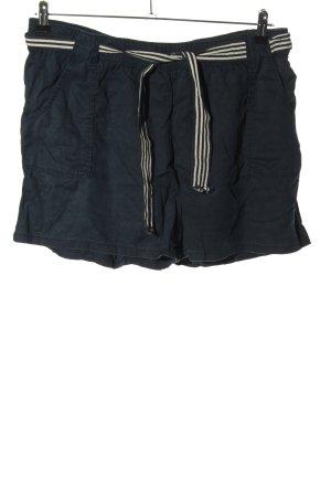 Clockhouse Shorts blau-wollweiß Streifenmuster Casual-Look