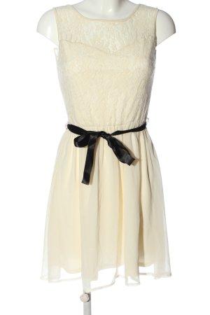 Clockhouse Vestido de encaje crema elegante