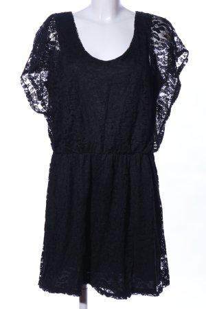 Clockhouse Kanten jurk zwart casual uitstraling