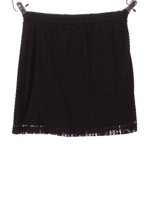 Clockhouse Kanten rok zwart casual uitstraling