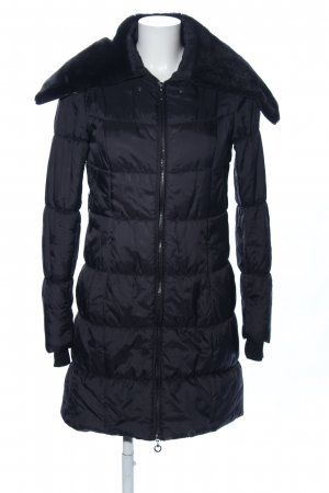 Clockhouse Quilted Coat black quilting pattern casual look