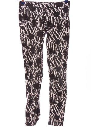 Clockhouse Pantalón elástico negro-blanco estampado con diseño abstracto