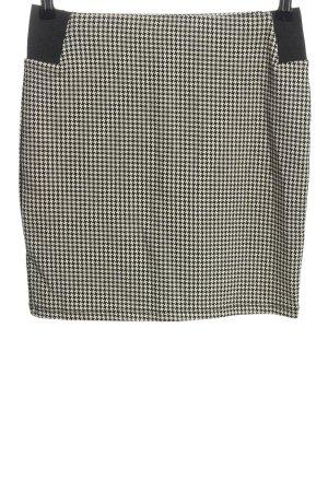 Clockhouse Spódnica ze stretchu biały-czarny Abstrakcyjny wzór W stylu casual