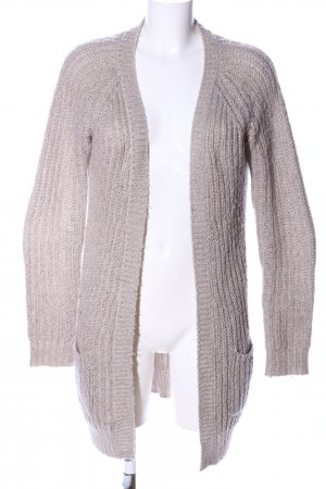 Clockhouse Strick Cardigan wollweiß Zopfmuster Casual-Look