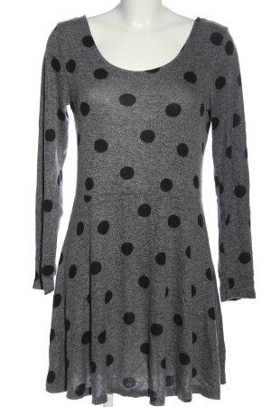 Clockhouse Abito di maglia grigio chiaro-nero stampa integrale stile casual