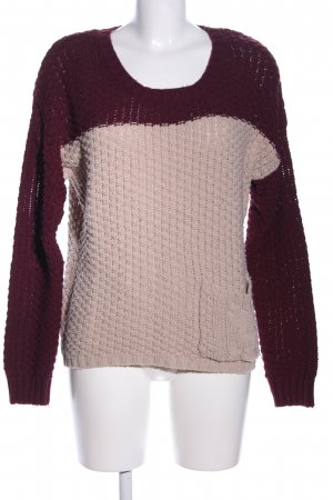 Clockhouse Strickpullover wollweiß-braun Casual-Look