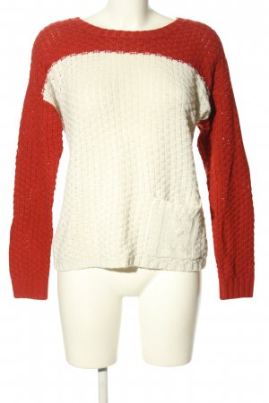 Clockhouse Strickpullover rot-weiß Casual-Look