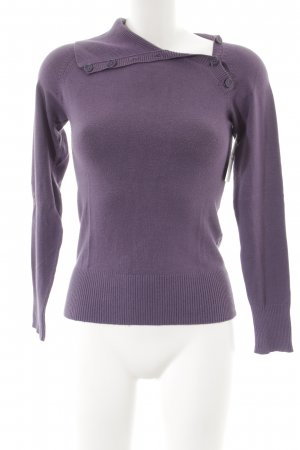 Clockhouse Strickpullover lila Casual-Look