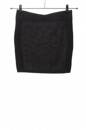 Clockhouse Knitted Skirt black-light grey allover print casual look