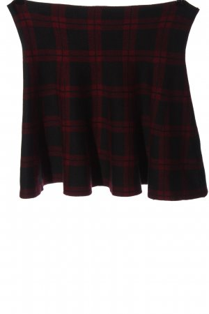 Clockhouse Knitted Skirt black-red allover print casual look