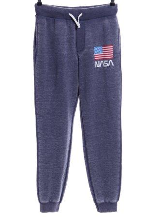 Clockhouse Pantalon de jogging bleu moucheté style décontracté