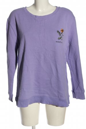 Clockhouse Sweat Shirt lilac themed print casual look