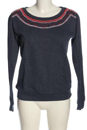 Clockhouse Sweatshirt blau meliert Casual-Look