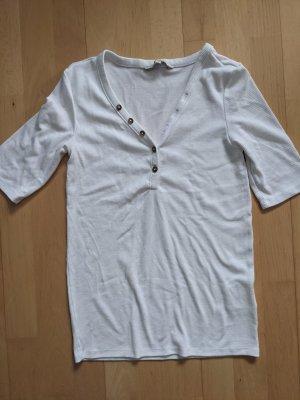 Clockhouse T-Shirt Strickshirt weiß S