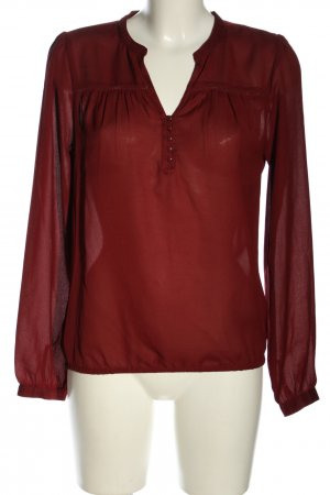 Clockhouse Transparenz-Bluse rot Casual-Look