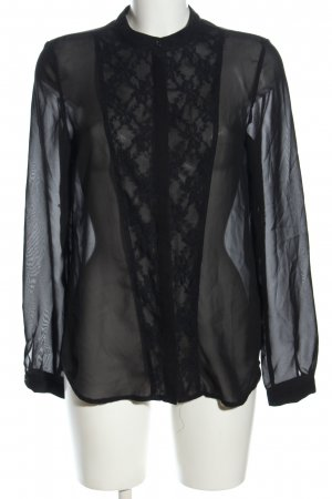 Clockhouse Transparenz-Bluse schwarz Casual-Look