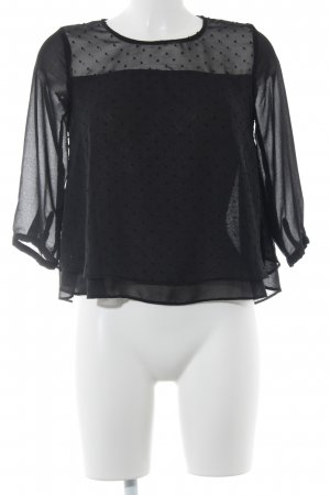Clockhouse Transparenz-Bluse schwarz Punktemuster Elegant