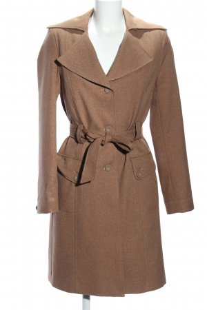 Clockhouse Trench Coat brown flecked casual look