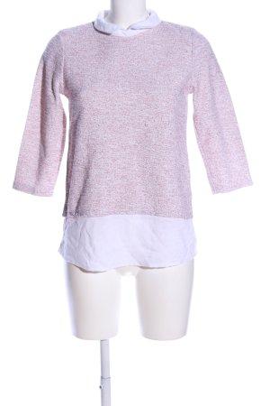 Clockhouse Schlupf-Bluse weiß-pink meliert Casual-Look