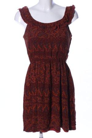 Clockhouse Volante jurk bruin volledige print casual uitstraling