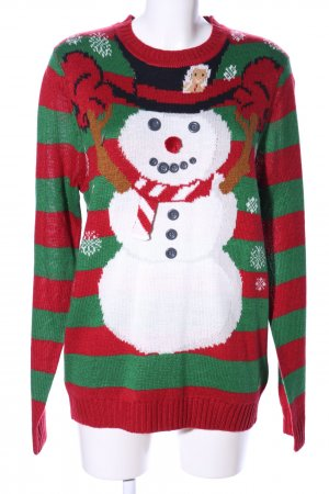 Clockhouse Christmasjumper themed print casual look