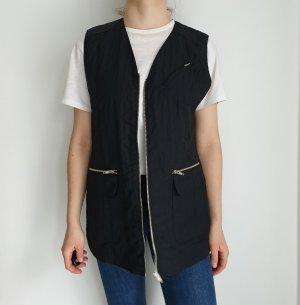 Clockhouse weste schwarz Cardigan jacke mantel pullover pulli 40 38