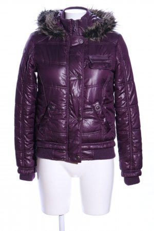 Clockhouse Winterjacke lila Steppmuster Casual-Look