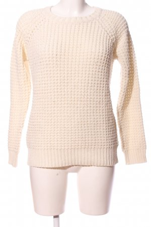 Clockhouse Cable Sweater cream cable stitch casual look