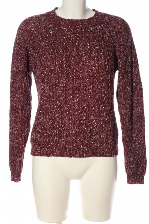 Clockhouse Zopfpullover rot meliert Casual-Look
