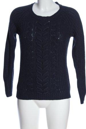 Clockhouse Warkoczowy sweter niebieski Warkoczowy wzór W stylu casual