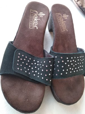 Rieker Clog Sandals dark brown