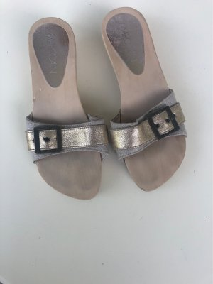 Marc Cain Clog Sandals silver-colored-gold-colored