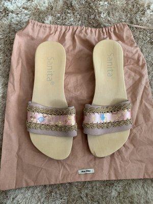 Sanita Heel Pantolettes pink