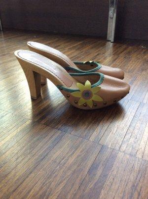 Clogs Pantolette Fornarina heels Leder